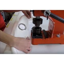 Usługa nabijania przelotek-kółek metalowych