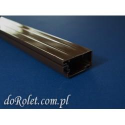 Profil aluminiowy do moskitier drzwiowych. Kolor brązowy