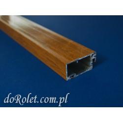 Profil aluminiowy do moskitier drzwiowych. Kolor złoty dąb
