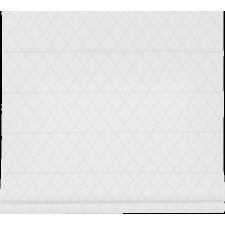 Tkanina Maroko do rolet rzymskich, kolor biały-2100