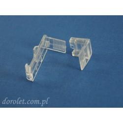 Uchwyt regulowany do bezinwazyjnego montażu rolety zwijanej mini na skrzydło okienne