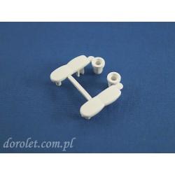 Zaślepki belki aluminiowej obciążnika rolety- biały
