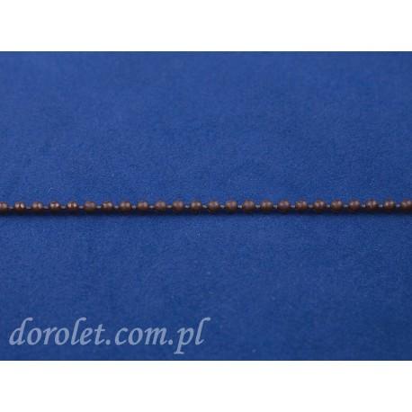 Łańcuszek kulkowy 3,2 mm - brązowy
