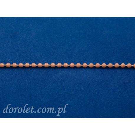 Łańcuszek kulkowy 3,2 mm -złoty dąb