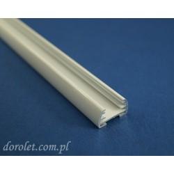 Profil aluminiowy do żaluzji plisowanych - biały