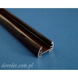 Profil aluminiowy - brązowy do plis