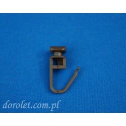 Agrafka ze ślizgiem do szyny sufitowej aluminiowej - brąz