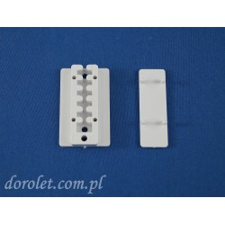 Płytka montażowa do żaluzji plisowanych- biały