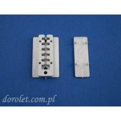 Płytka montażowa regulowana do żaluzji plisowanych  - szary
