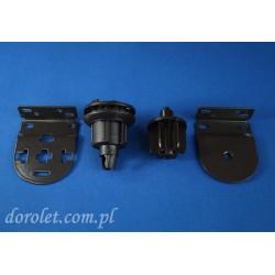 Mechanizm fi 32 mm do rolety wolnowiszącej - brąz