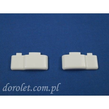 Zaślepki prowadnicy płaskiej rolety - biały