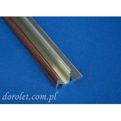 Przystawka aluminiowa do kasety rolety Besta - orzech
