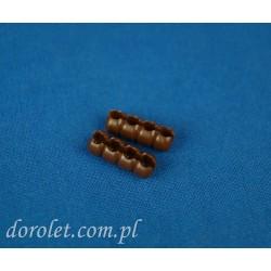 Łącznik do łańcuszka 3,0 -3,2 mm - orzech