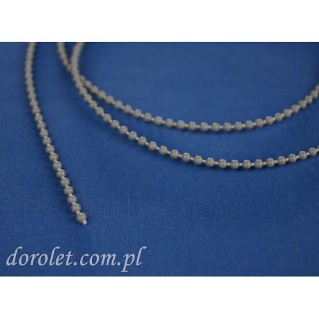 Łańcuszek kulkowy 3,0 mm do rolet - szary