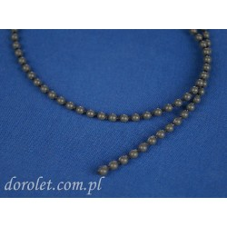 Łańcuszek kulkowy 4,5 mm do rolet - szary