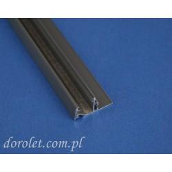 Przystawka aluminiowa do kasety rolet Besta - szary