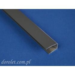 Prowadnica aluminiowa przestrzenna do rolet - szary