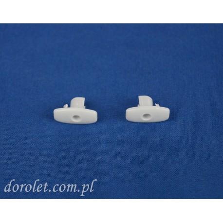 Zaślepka belki obciążającej aluminiowej rolet - jasny szary