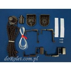 Mechanizm do rolety mini z prowadzeniem żyłkowym. Kolor brązowy