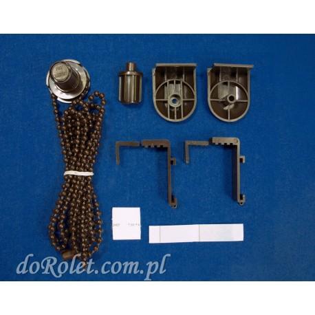 Pakiet montażowy do rolety mini, kolor brązowy