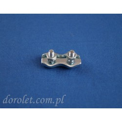 Zacisk siodełkowy podwójny 2 mm