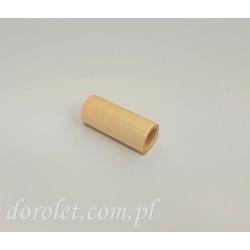 Drewniany obciąznik sznurka rolety - jasny beż